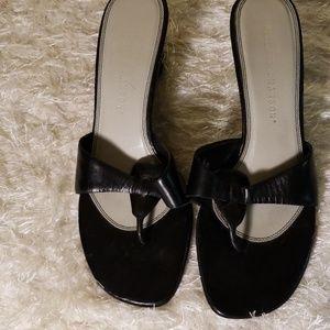 Black Hillard and Hanson sandals